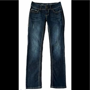 Rebel By Right Flap Pocket Distressed Jeans